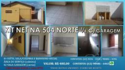 Kit net na 504 Norte com (1 suite e G/pra Carro