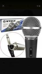 Microfone profissional muito bom, cópia do shure sm-58