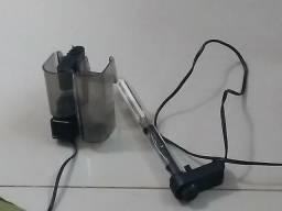 Bomba e termostato de aquário