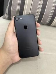 Iphone 7 128 gigas black matte com nota e acessórios!