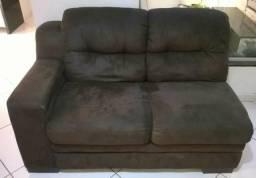 Sofá em l marrom barato