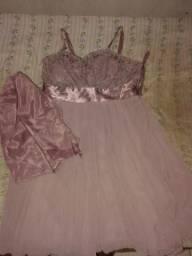 Vestido social rosado