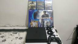 Console Ps4 Slim 500 Gb + Game Uncharted 4 Sony