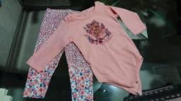 Lote de roupas de bebê - 8 peças + acessório