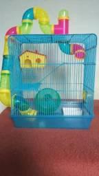 Gaiola para Hamster de 3 andares + Gaiola de Transporte Completas