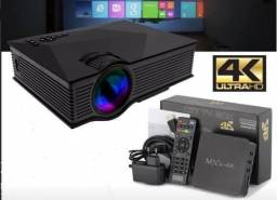 Kit Smart Tv box X9 + Projetor uc40 Entregamos, dividimos