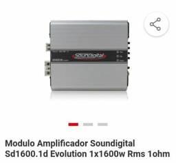 Vendo módulo potência automotiva sound digital 1600rms