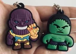 Título do anúncio: Chaveiro emborrachado hulk, capitão América, Thanos.