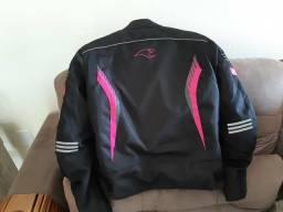 Jaqueta de motociclista feminina