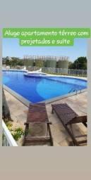 Apartamento térreo para locação/Costa do Araçagi R$ 1.000