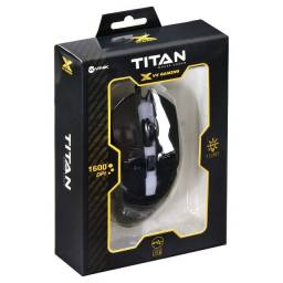 Mouse Gamer Titan Vx gaming Led RGB 1600 DPI
