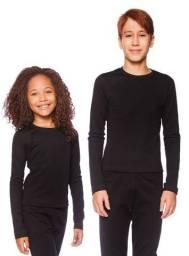 Camisa térmica pra crianças e adolescentes unissex