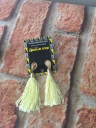 Brinco de franja colar galho de arvore