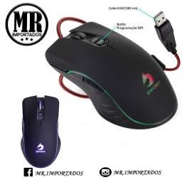 Mouse Gamer Iluminado 6400 Dpi 7 Botões Usb Óptico (entregamos).