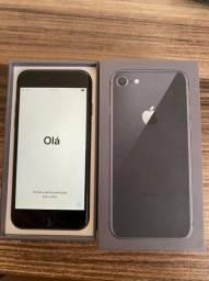 Iphone 8 64gb seminovo Preto Completo