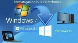 Formatação de computadores PC desktop e notebooks em geral