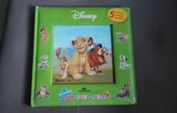 Livro quebra cabeça Disney
