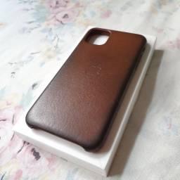 Capa Case Iphone 11 Pro Max Couro Original
