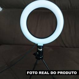 Iluminador Ring Light Blogueira Luz Forte Para Vídeos e Fotos Profissional
