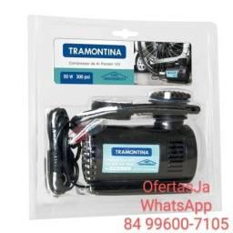 Compressor de ar portátil 300 psi 50w 12v Tramontina
