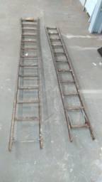 Escada de madeira extensivel 23 degaus