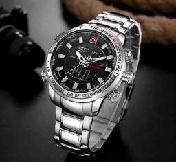 Relógio Naviforce Inoxidável Masculino Original Digital E Analógico