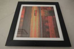 Quadro c/ gravura Abstrato / em MDF Preto 33 cm x 33 cm x 2 cm