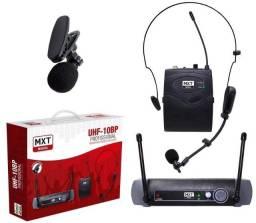 Título do anúncio: Microfone Sem Fio Cabeça/Lapela MXT, Modelo UHF 10 BP