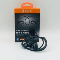 Fone de Ouvido Bluetooth Esportivo Hrebos - Até 6x sem juros.