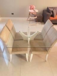 Título do anúncio: Conjunto mesa + 4 cadeiras