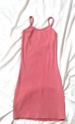 Vestido rosa, curto