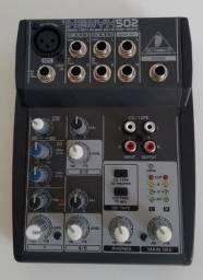Mesa de som (mixer) Behringer Xenyx 502 voltagem 220V