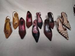 Título do anúncio: Lote sapatos couro - 5 pares