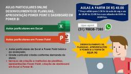AULAS PARTICULARES E DESENVOLVIMENTO DE PROJETOS EXCEL E POWER POINT