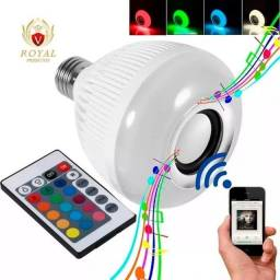 Lampada Bluetooth De Led Caixa De Som C Controle 12w