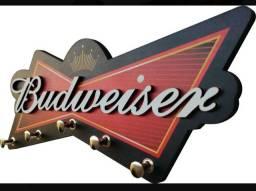 Porta Chaves Alto Relevo Decoração Parede Budweiser.   Última Peça !!!