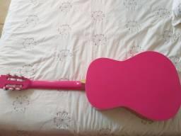 Violão rosa marca michael