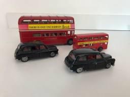 Miniaturas Londres Ônibus e Táxi - Decoração