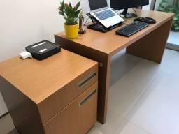 Móveis escritório laminado madeira e PU - Lucas 34 9  *