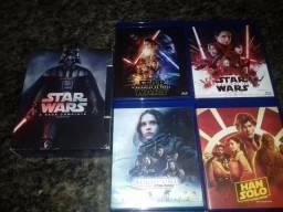 Coleção de filmes Star Wars blu-ray