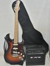 Guitarra Tagima TG530 + Amplificador Borne + Cabo + Corrêa + Palheta