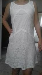 Vestido Branco de Renda tam.36