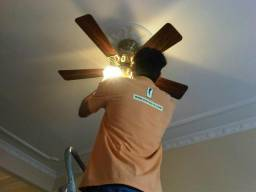 Instalação ventilador de teto e parede