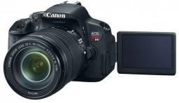 Camera canon t4i lente 18x55mm super conservada