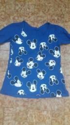 Camisa de manga longa Mikey Mouse azul escuro