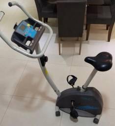 Bicicleta Ergométrica Act! Home Fitness Magnética CLB 40 - Prata/Cinza