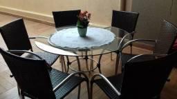 Conjunto Mesa + cadeiras para Espaço Gourmet