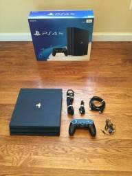 PS4 Pro 1T com 1 ano de uso em perfeito estado, na caixa uma conta com mais de 11 jog