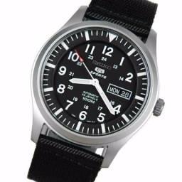 Relógio Seiko 5 automático snzg15k1 masculino original preto