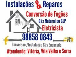 Conversão de Fogão Gás Encanado Natural ou GLP